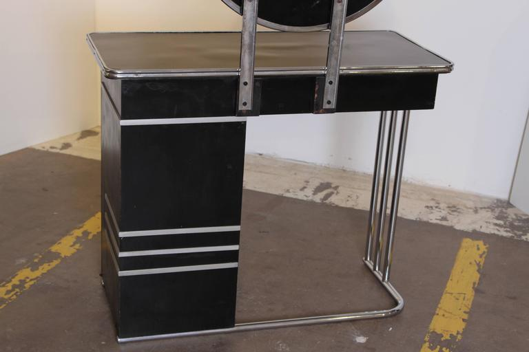 Machine Age Art Deco Royalchrome Dressing Table 347 By Royal Metal 1936 For