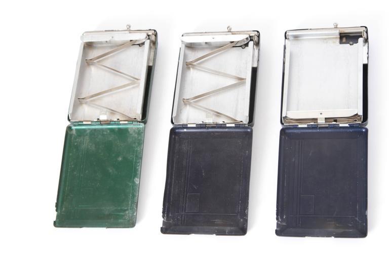 Machine Age Art Deco Magic Case Automatic Cigarette Case and Lighter For Sale 1