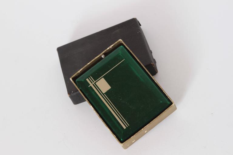 Machine Age Art Deco Magic Case Automatic Cigarette Case and Lighter For Sale 2