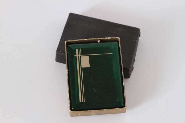 Machine Age Art Deco Magic Case Automatic Cigarette Case and Lighter For Sale 3