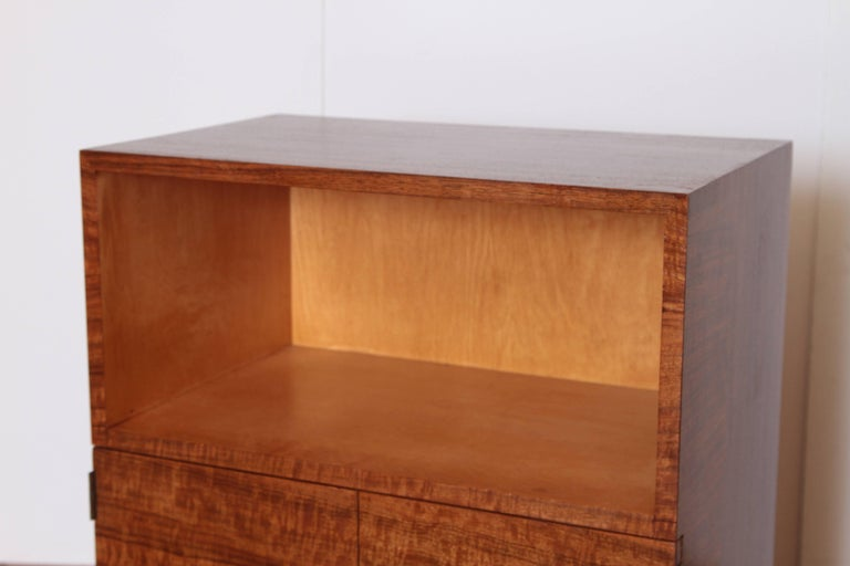 Art Deco Machine Age Gilbert Rohde Herman Miller, 1934 East India Laurel Cabinet In Good Condition For Sale In Dallas, TX