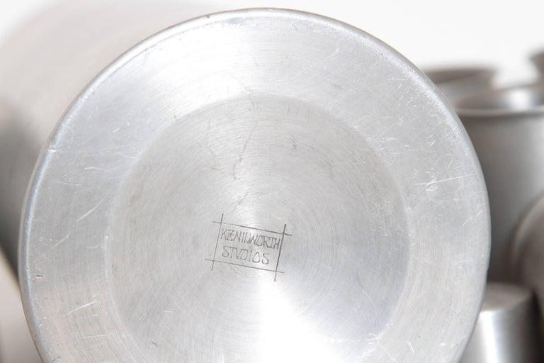 Machine Age Art Deco Kenilworth Studios Aluminum Cocktail Set For Sale 1