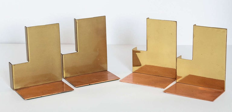 Machine Age Art Deco Walter Von Nessen for Chase Moderne Bookends For Sale 12