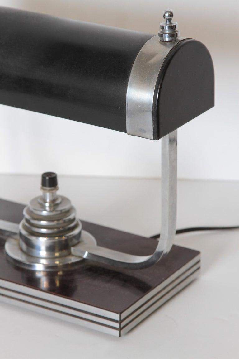 Machine Age Art Deco Markel Table Lamp For Sale 2
