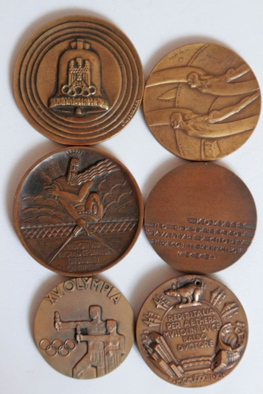 Collection Original Iconic Mixed-Metal Art Deco Medallions For Sale 2