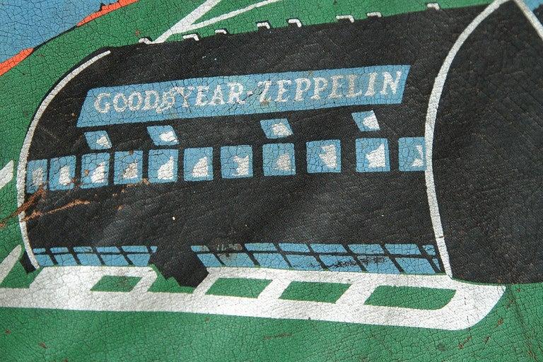 Rare U.S.S. Akron Goodyear Zeppelin Cushion in Art Deco Style 7