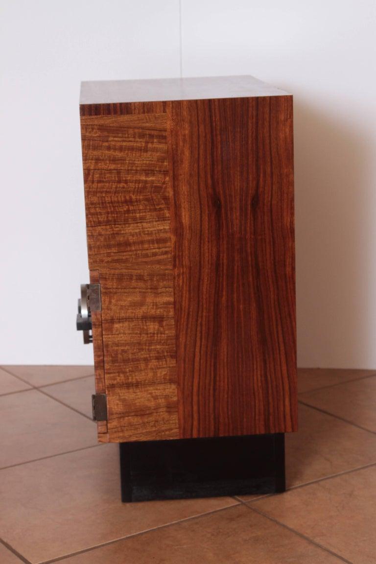 American Art Deco Machine Age Gilbert Rohde Herman Miller, 1934 East India Laurel Cabinet For Sale