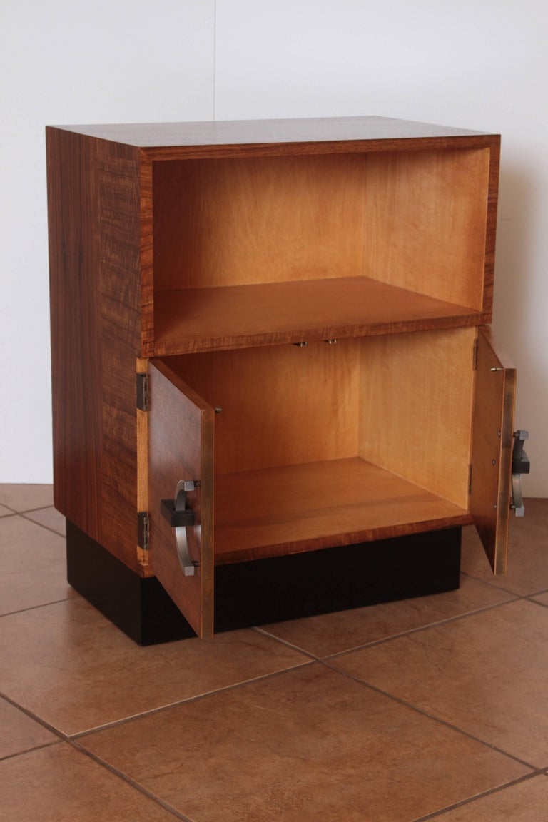 Mid-20th Century Art Deco Machine Age Gilbert Rohde Herman Miller, 1934 East India Laurel Cabinet For Sale