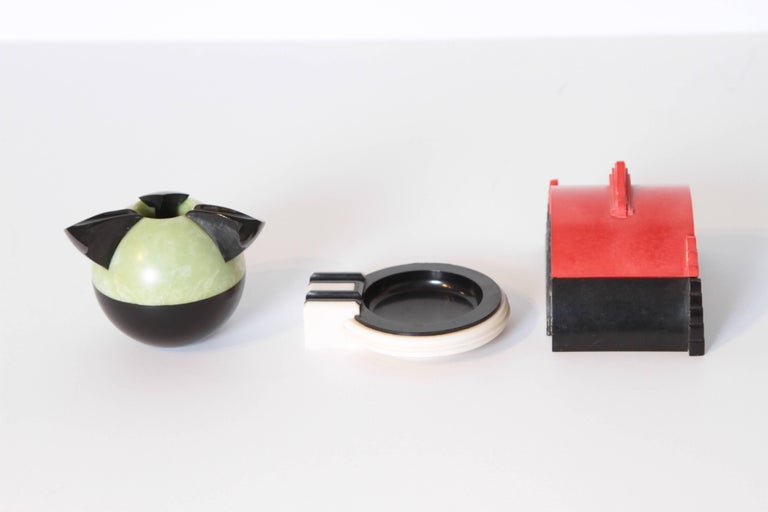 British Art Deco Catalin / Bakelite Collection Three Iconic Design Tableware Items For Sale