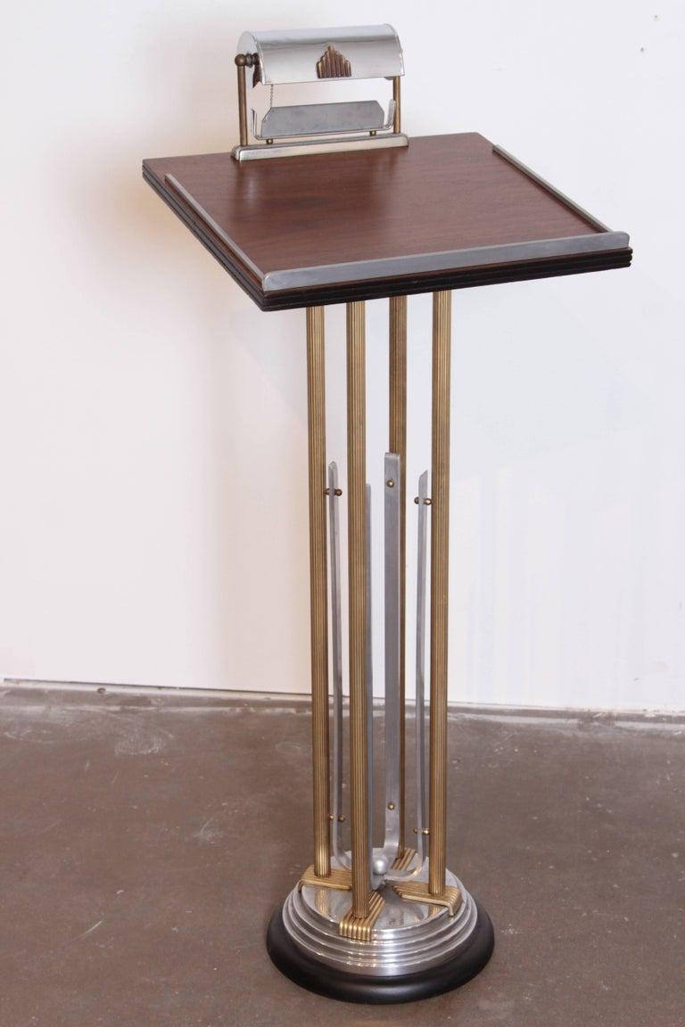 art deco machine age lighted registry stand podium. Black Bedroom Furniture Sets. Home Design Ideas