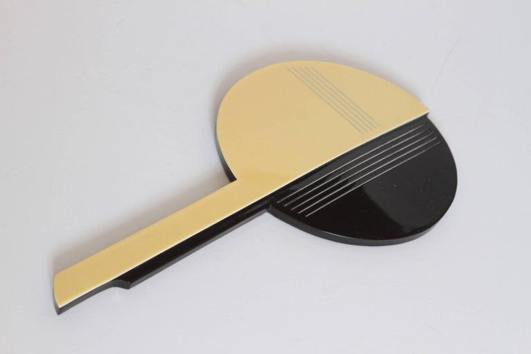 Machine Age Art Deco Gustav Jensen Streamline Phenolic Vanity Set by Dupont  Important streamline Art Deco design in