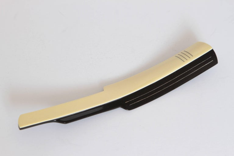 Machine Age Art Deco Gustav Jensen Streamline Phenolic Vanity Set by Dupont For Sale 1