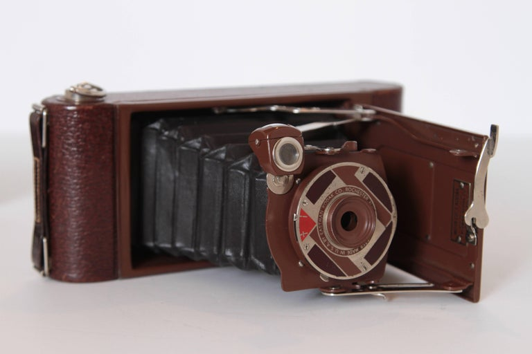 American Machine Age Art Deco Walter Dorwin Teague Kodak Gift 1A Camera with Case For Sale