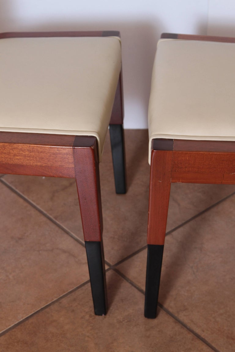 Art Deco Dynamique Creations Johnson Furniture Co. Set of Four Side Chairs For Sale 2