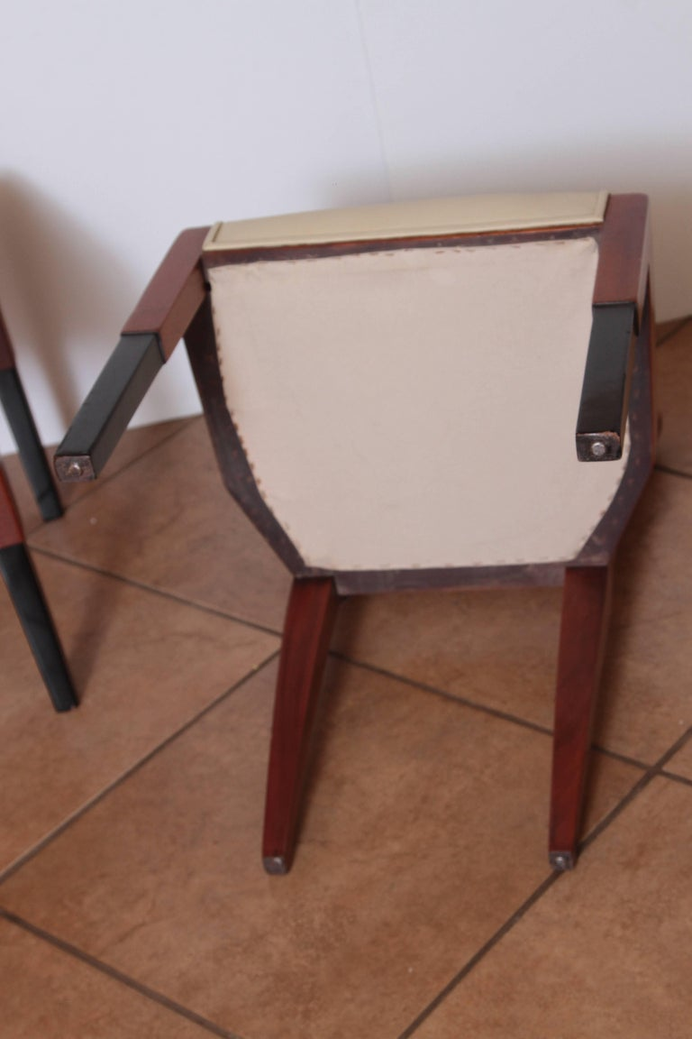 Art Deco Dynamique Creations Johnson Furniture Co. Set of Four Side Chairs For Sale 3