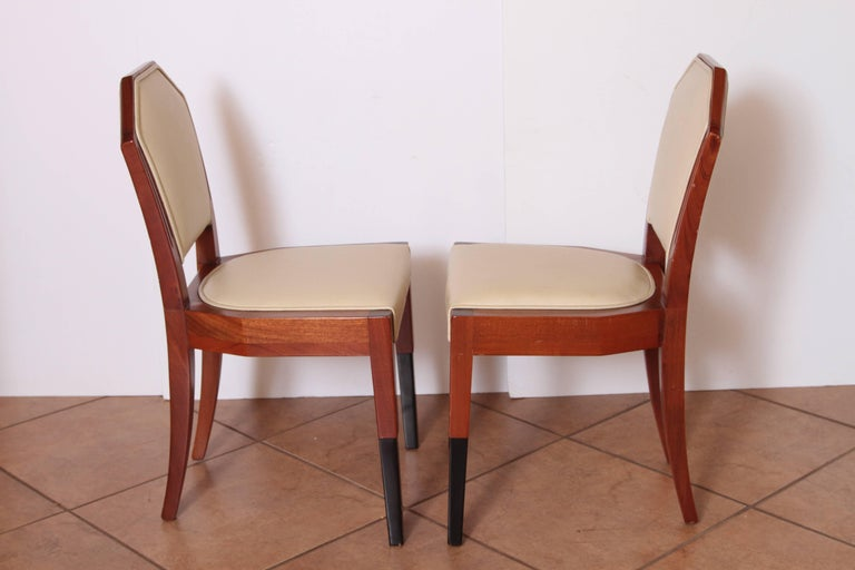 Art Deco Dynamique Creations Johnson Furniture Co. Set of Four Side Chairs For Sale 1