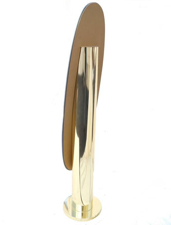 Modern Glam Full Length Cylinder Floor Standing Mirror At