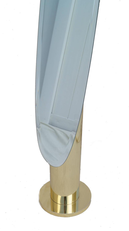 Modern Glam Full Length Cylinder Floor Standing Mirror For