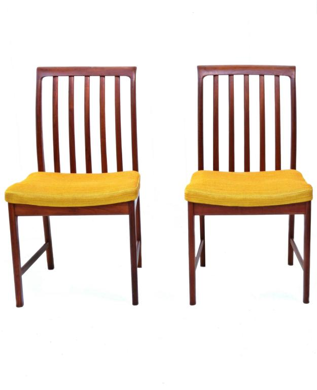 six dux teak dining room chairs four side chairs two armchairs which