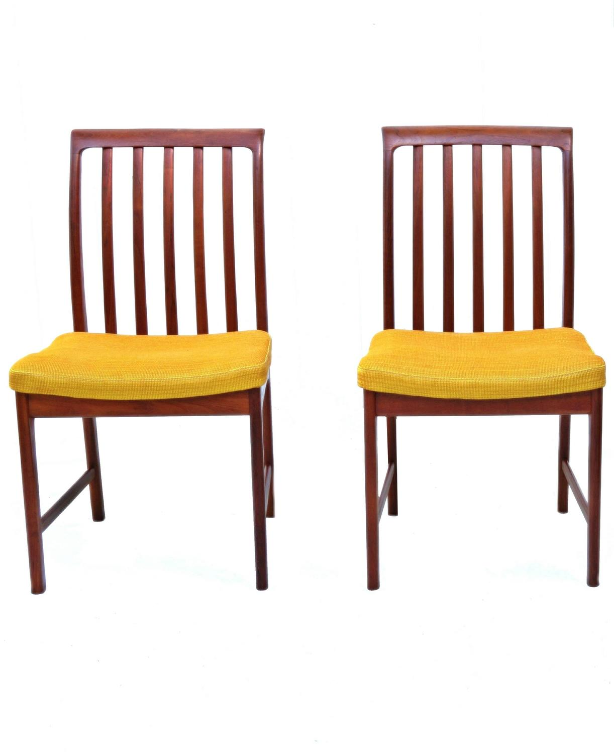 Six danish modern folke ohlsson dux teak dining room for Dining room chairs 50