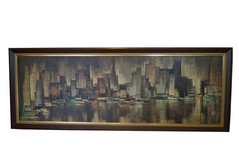 Huge New York City View Landscape Cityscape Turner Wall Art by Maio ...