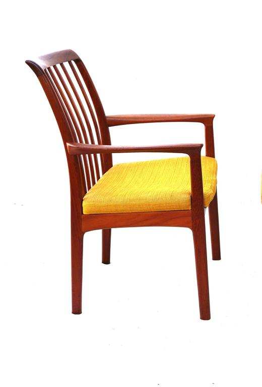 this six danish modern folke ohlsson dux teak dining room chairs is no