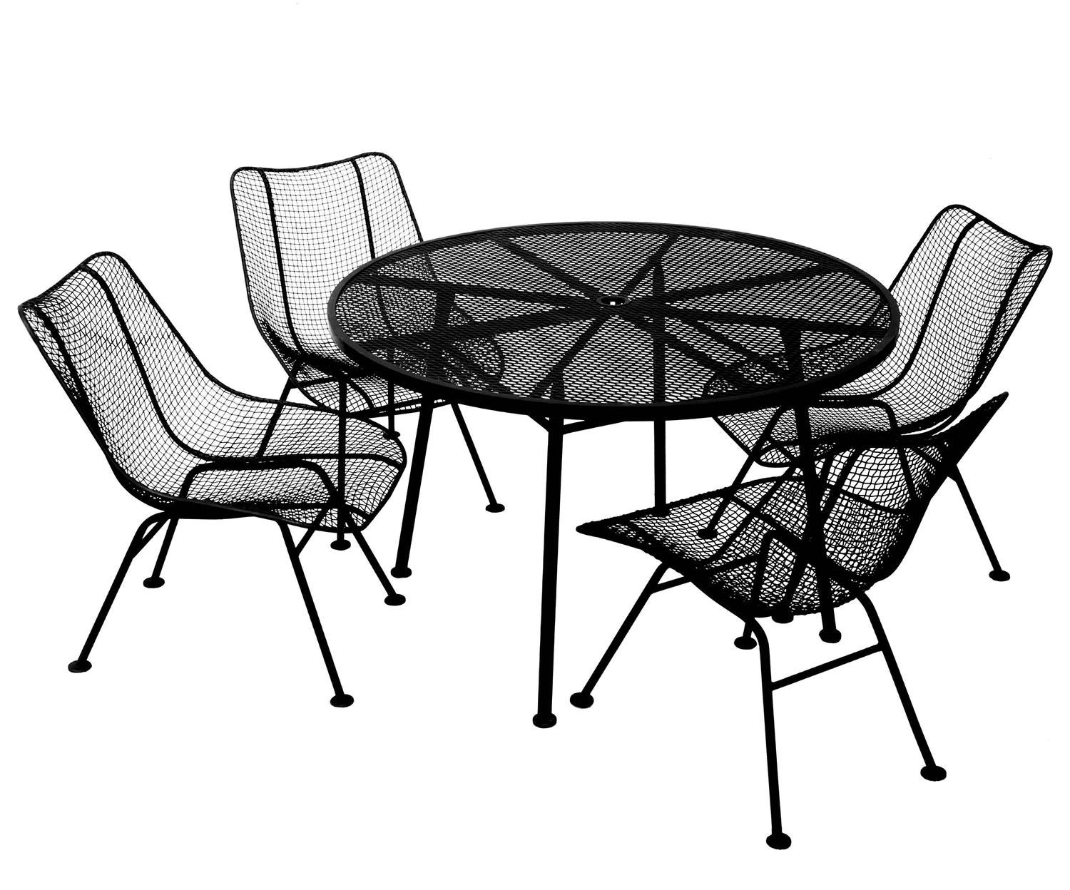Outdoor Indoor Patio Dining Set Table And Four Chairs The Table