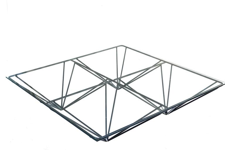 Paolo Piva Glass Top Coffee Table 2