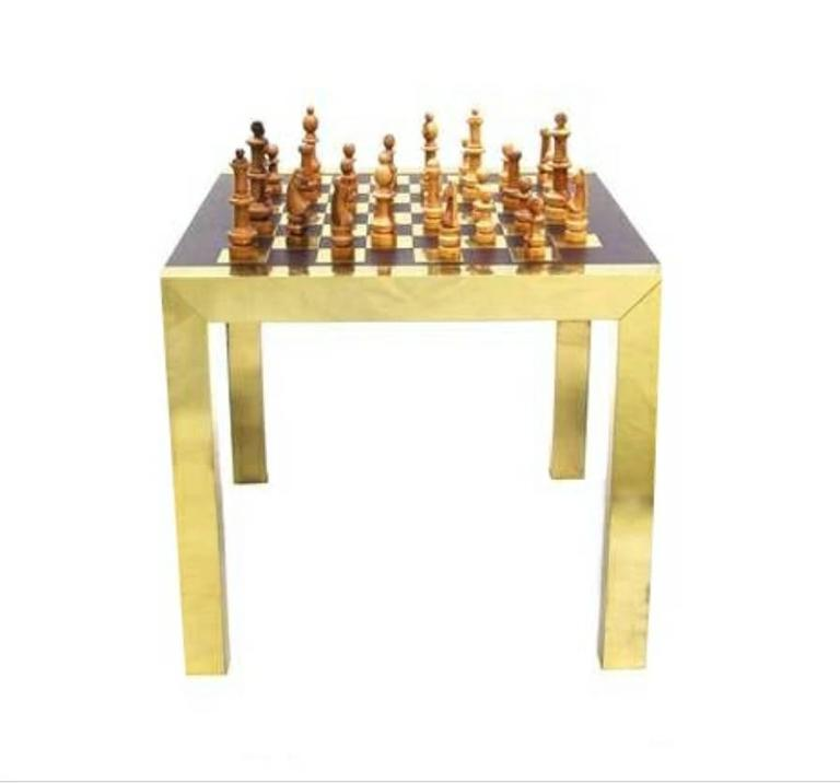 This Is A Rare Paul Evans Chess Gaming Set. It Includes The Table And  Playing