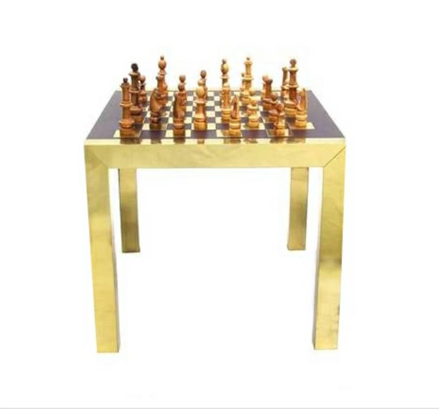 Paul Evans Modern Chess Set Game Table At 1stdibs