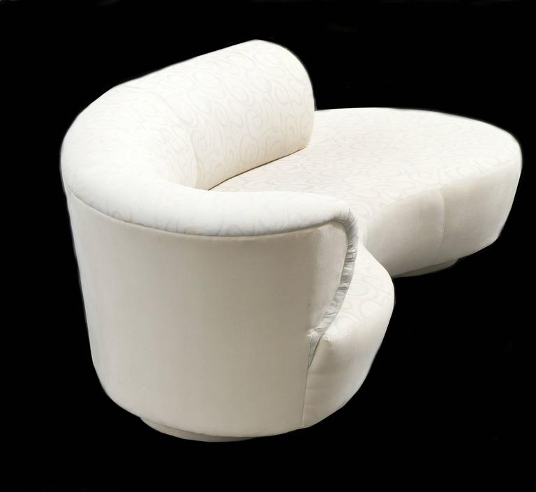 American Vladimir Kagan Style Serpentine Cloud Sofa Right Arm For Sale