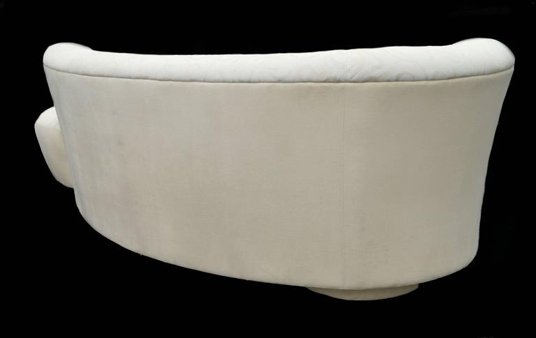 Vladimir Kagan Style Serpentine Cloud Sofa Right Arm For Sale 1
