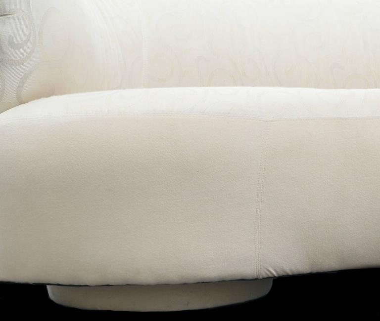 Vladimir Kagan Style Serpentine Cloud Sofa Right Arm For Sale 3