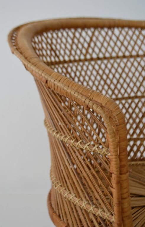 pair of woven rattan barrel form side chairs or occasional chairs at 1stdibs. Black Bedroom Furniture Sets. Home Design Ideas