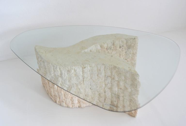 Philippine Post-Modern Tessellated Marble Coffee or Cocktail Table For Sale