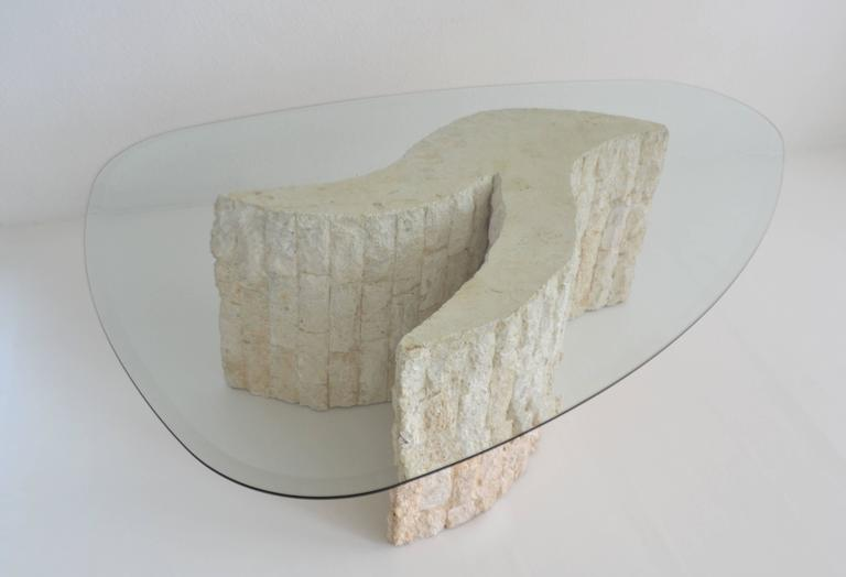 Post-Modern Tessellated Marble Coffee or Cocktail Table For Sale 1