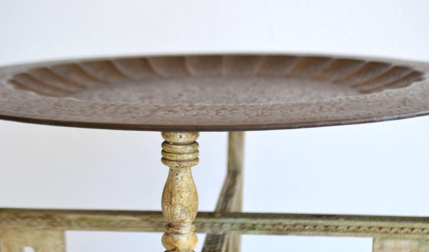 Pair Of Anglo Indian Brass Tray Tables For Sale At 1stdibs
