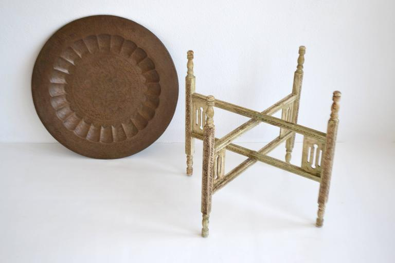 Pair of Anglo-Indian Brass Tray Tables For Sale 3