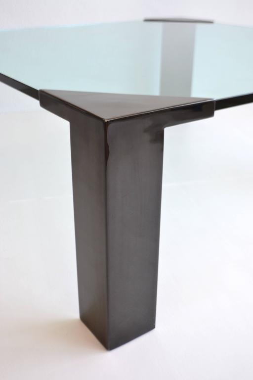 Metal Post-Modern Cocktail or Coffee Table For Sale