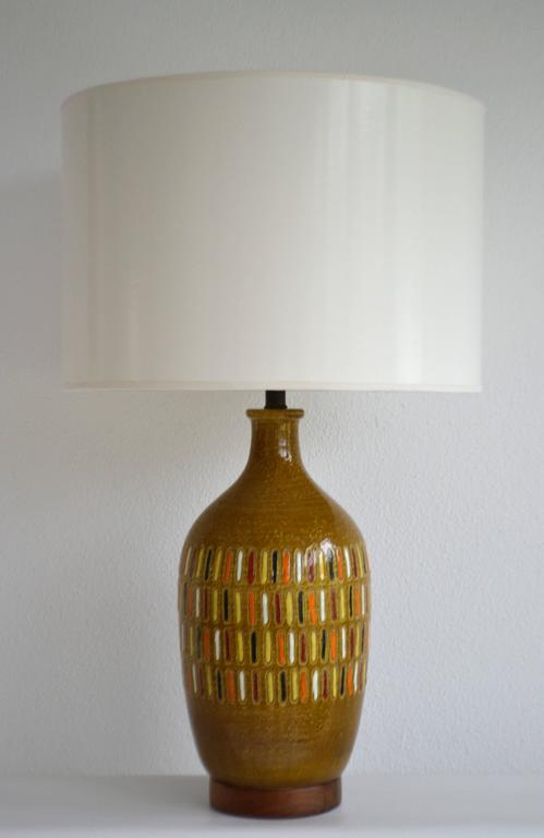 Midcentury Italian Ceramic Table Lamp For Sale 1
