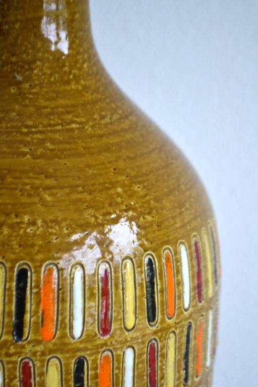 Brass Midcentury Italian Ceramic Table Lamp For Sale