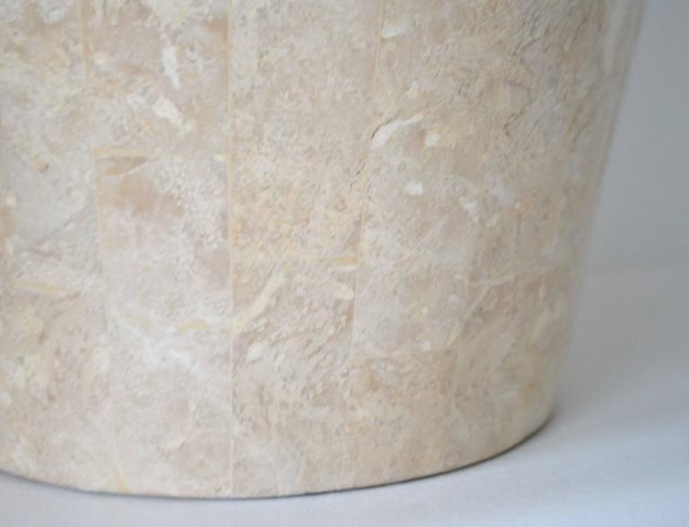 Late 20th Century Pair of Postmodern Tessellated Stone Table Lamps For Sale