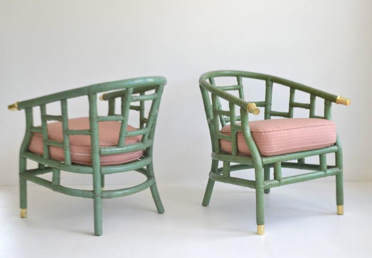 Pair of mid century bent bamboo tub chairs for sale at 1stdibs for Bent bamboo furniture
