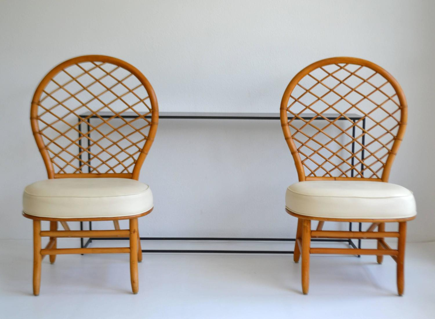 Pair of mid century bent bamboo hall chairs for sale at for Bent bamboo furniture