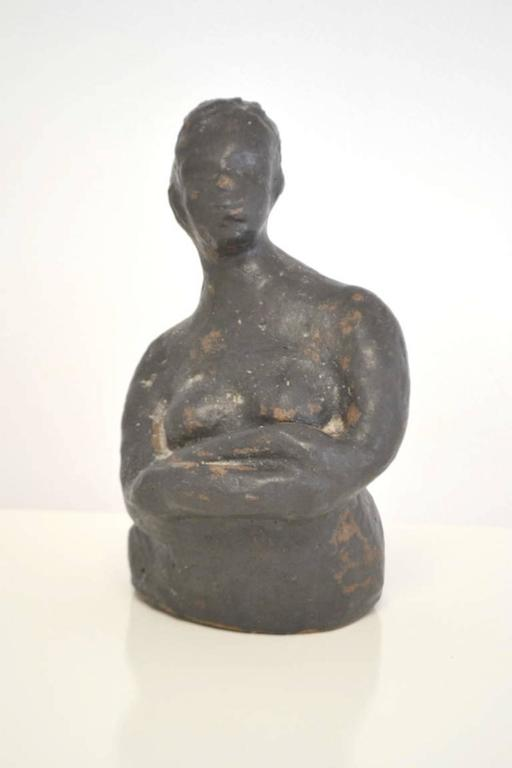 Mid-20th Century Midcentury Hand Thrown Sculpture For Sale