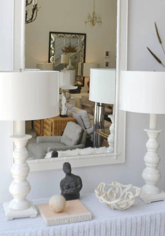 Midcentury White Glazed Woven Ceramic Bowl For Sale 1
