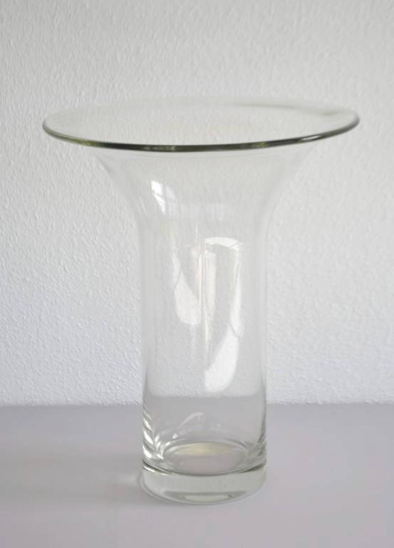 Mid-Century Modern Midcentury French Blown Glass Vase For Sale