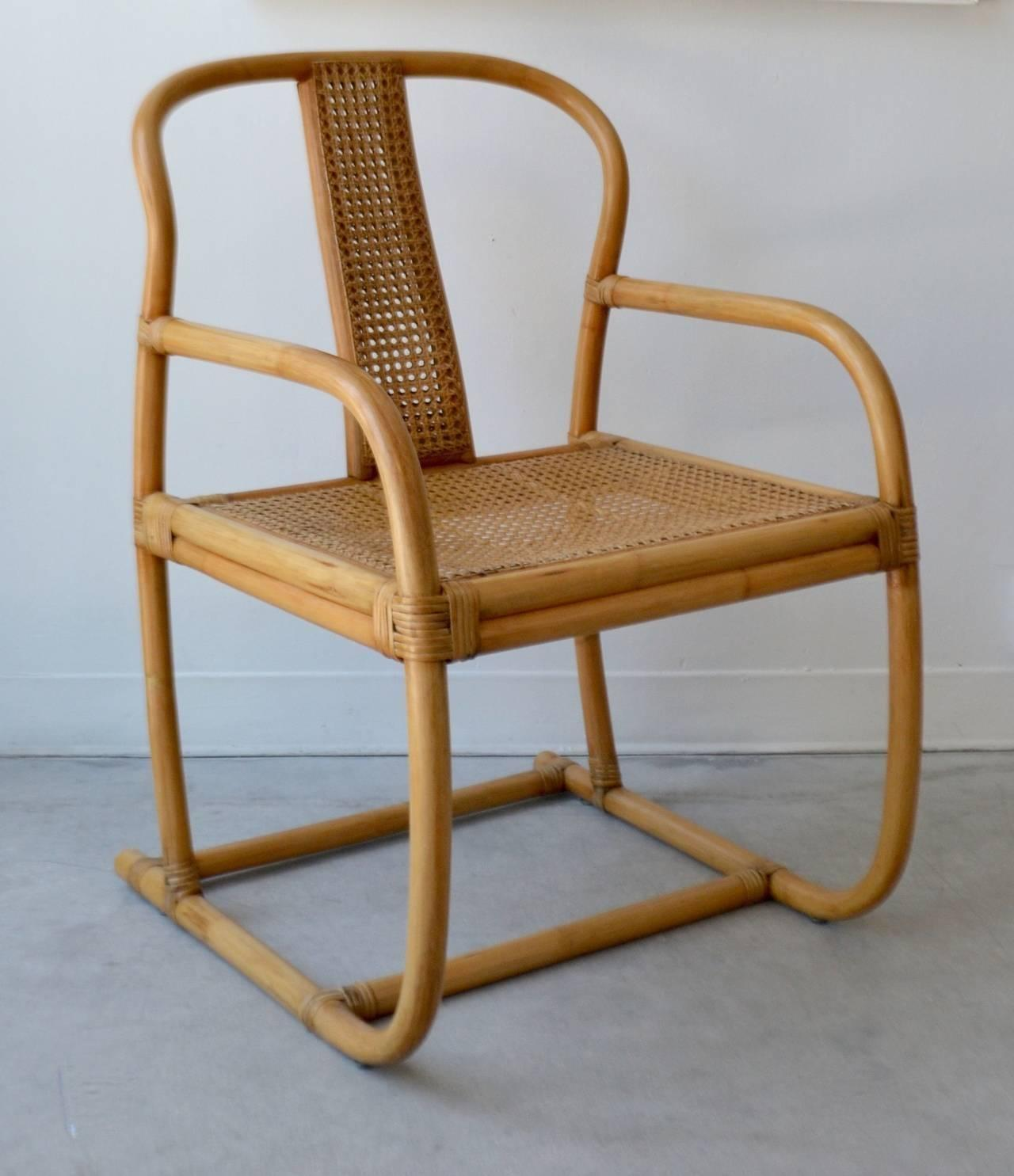 mid century bent bamboo occasional chair for sale at 1stdibs