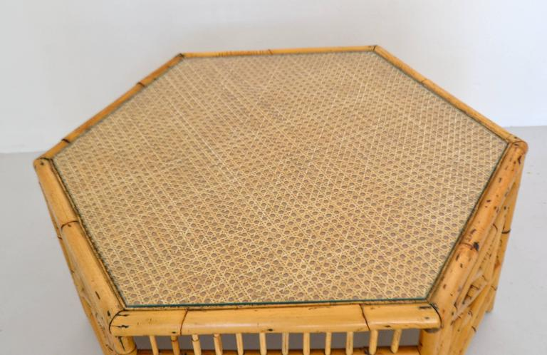 Mid-20th Century Midcentury Bamboo Coffee Table For Sale