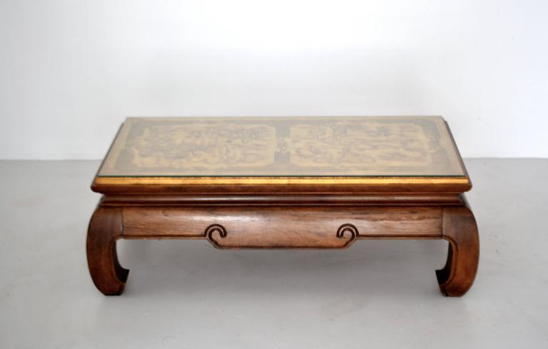 American Hollywood Regency Coffee Table For Sale